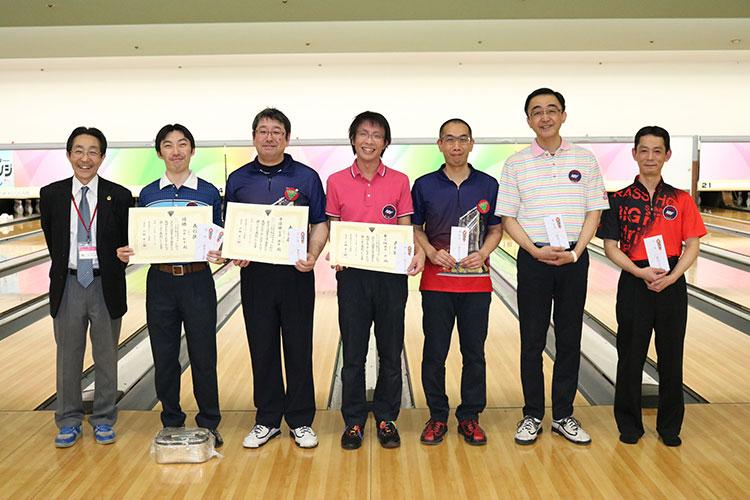 2017年東京都理事長杯ボウリング選手権大会男子入賞者
