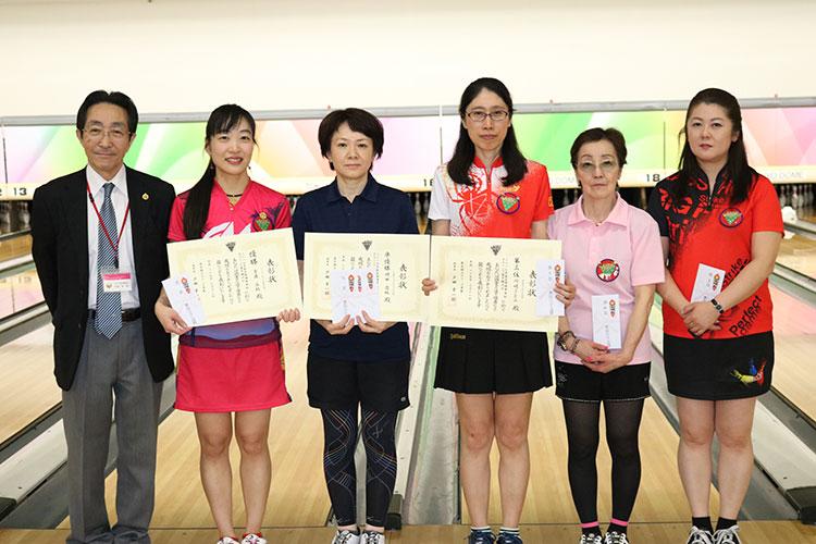 2017年東京都理事長杯ボウリング選手権大会女子入賞者